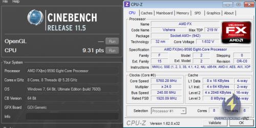 Cinebench FX-9590 OC