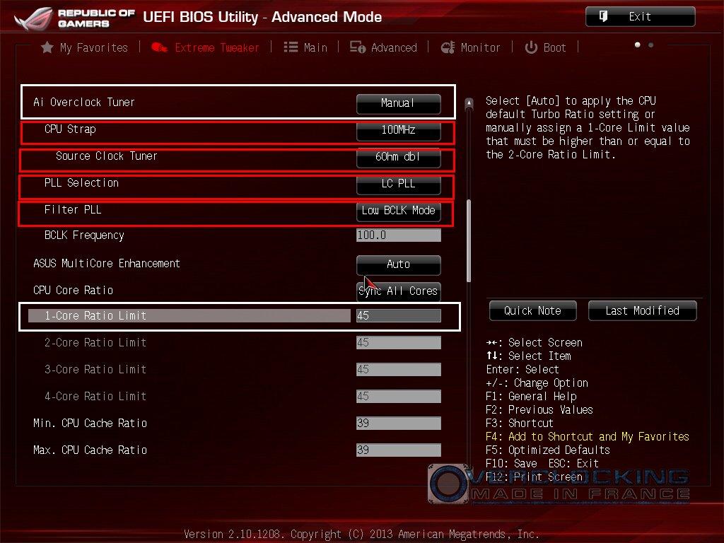 OC 4770K sur ROG Z87
