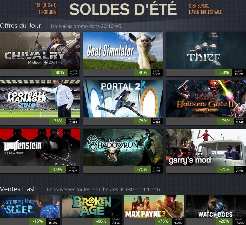 Soldes Steam 28-06-14