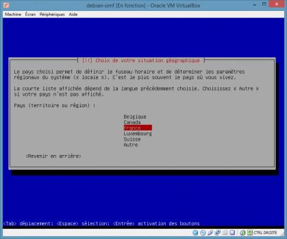 Installation de Linux vbox11b