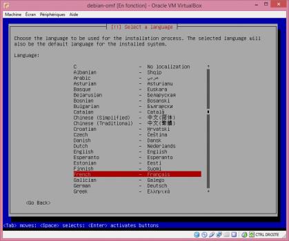 Installation de Linux vbox10