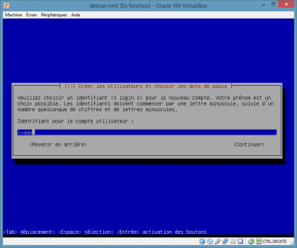 Installation de Linux vbox16