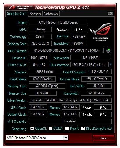 GPU-Z 0.7.9 ROG