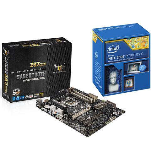 Intel Core i7- 4790k + Carte mère Asus Sabertooth Z97 Mark2