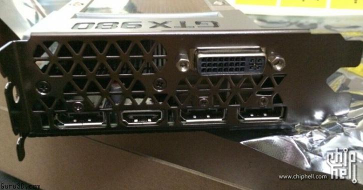 NVidia GTX 980 connectique