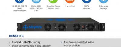 Skyera SSD 1U 136 To