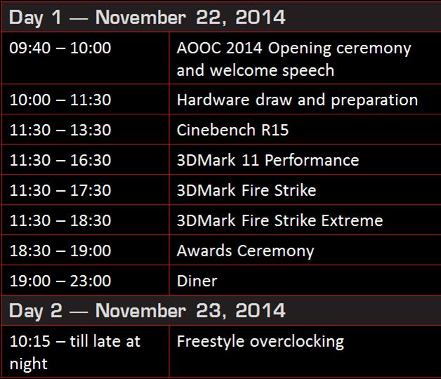 AOOC2014_Schedule