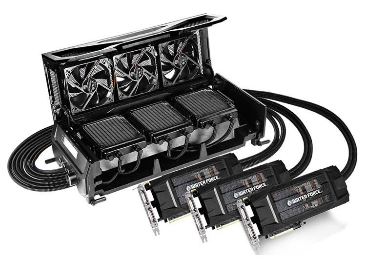 Gigabyte GTX 980 WaterForce Tri-SLI
