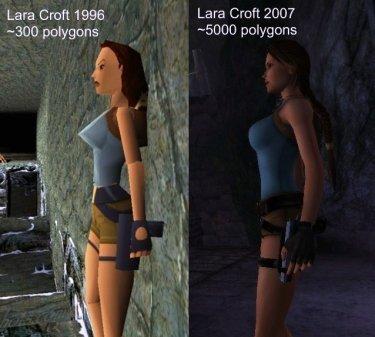 Lara Croft Polygones