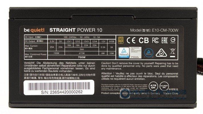 Test Bequiet Straight Power 10 700w 4