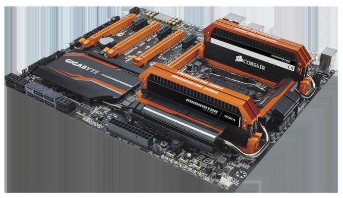 DDR4 Corsair 3400 mhz gigabyte x99 soc champion