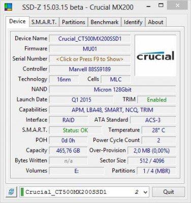 MX200 SSD-Z