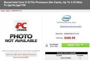 prix Core i7 5775C 3
