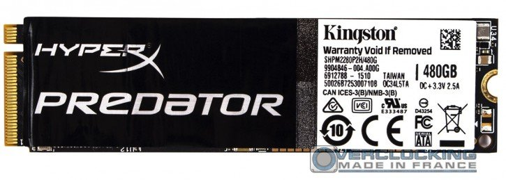 Kingston HyperX Predator PCIE SSD M2 480go (5)