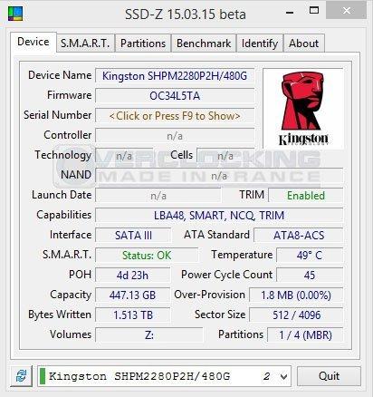 Kingston predator pcie ssd 480go ssd z