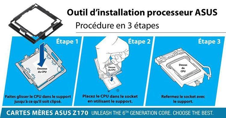 ASUS installation CPU kit