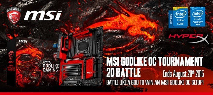 MSI GODLIKE OC Tournament 2D Battle