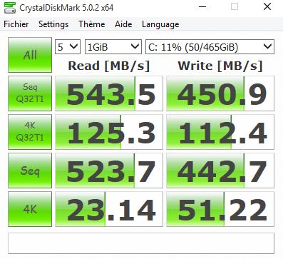 CrystalDiskMark BX100