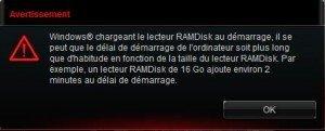 ROM RAMDisk Avertissement