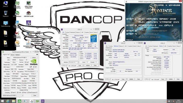 Dancop Unigine Heaven 10149 pts