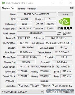 KFA2 GTX 970 EXOC OC gpuz
