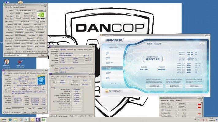 Dancop 3DMark Vantage 95712 Marks