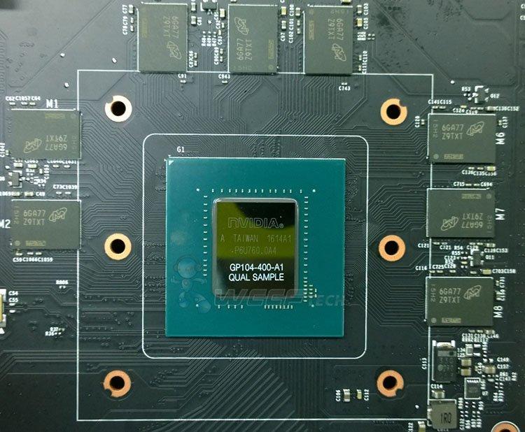nVidia GP104-400-A1 GDDR5X