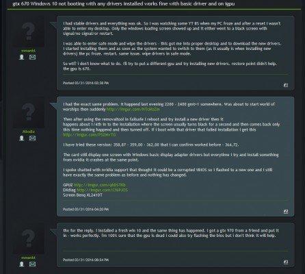 nVidia GeForce 364.72 WHQL problèmes