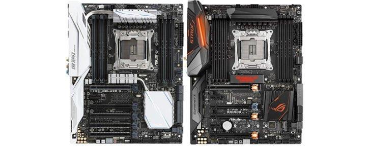 Asus X99 Strix et Deluxe 2