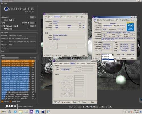 Dhenzjhen Cinebench R15 8299 cb