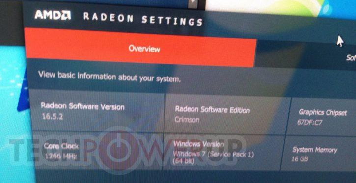RX 480 Radeon Settings