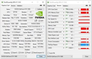 GTX 1080 HOF GPUZ