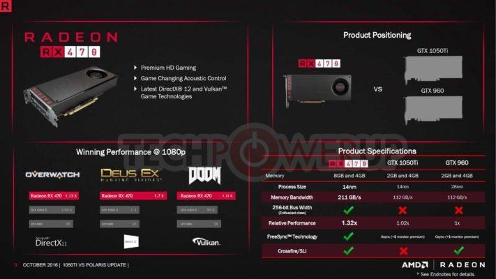 AMD RX470 vs GTX 1050 3