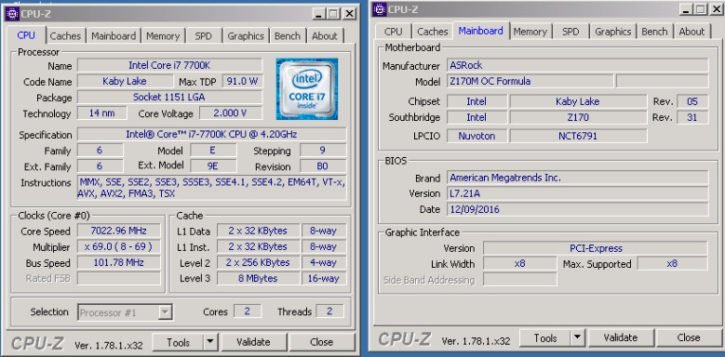 i7 7700K 7 GHz stable