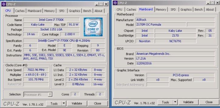 i7 7700K 7 GHz stable