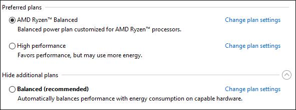 AMD RyZen option d'alimentation (2)
