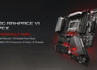 ASUS Rampage VI Apex i9 7900X overclcoking