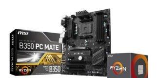 MSI B350 PC Mate RyZen 5 1600