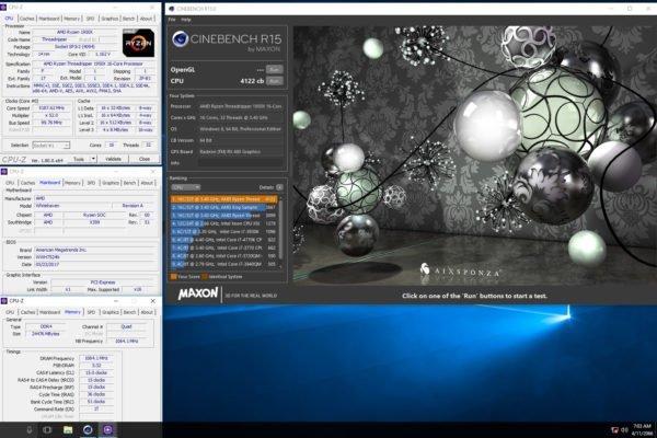 Threadripper 1950X 5.2 GHz Cinebench 4122 cb