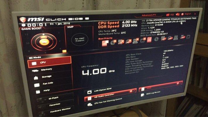 Core i3 8350K sur MSI Z170 XPower Titanium (1)