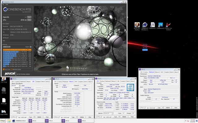 Alex@ro i7 8700K Cinebench R15 2350 cb