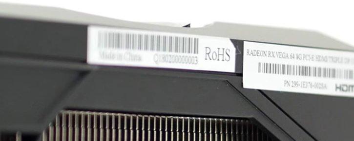 Sapphire RADEON RX Vega 64 Pulse