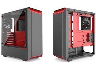 Phanteks Eclipse P300 noir-rouge