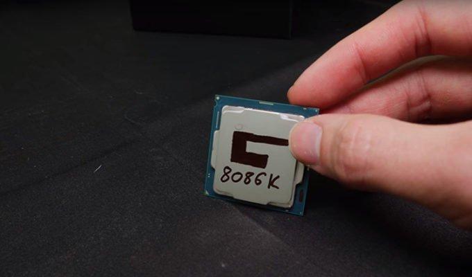 Der8auer Core i7 8086K 7.24 GHz