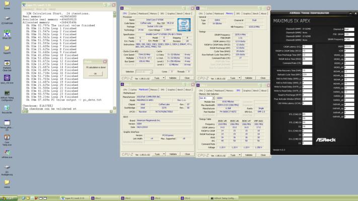 Dancop SuperPI 4 mins 7 secs 609 ms Core i7 8700K 7344.53 MHz