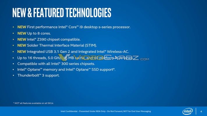 Intel Core i 9000 IHS soudé