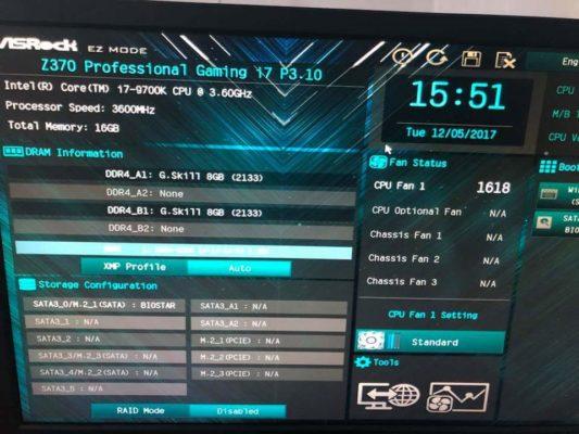 Intel Core i7 9700K overclocking 5.5 GHz