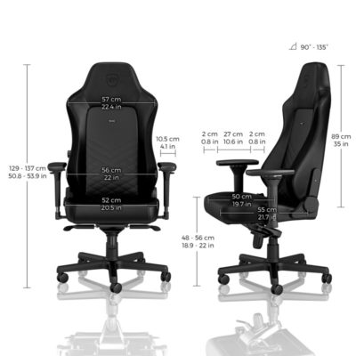 Noblechairs hero dimensions