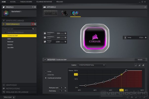 Corsair H100i RGB Platinum - iCUE performances (3)