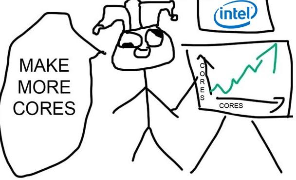 Intel male more cores